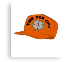 Time for Chili Hat Shirt Canvas Print