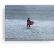 Asilomar State Beach Surfer Metal Print