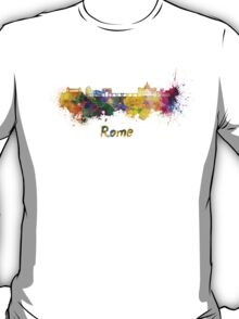 Rome skyline in watercolor T-Shirt