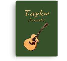 Taylor Acoustic Guitar Canvas Print