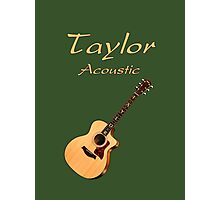 Taylor Acoustic Guitar Photographic Print