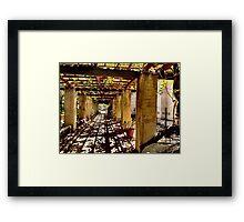 San Gabriel Mission Arches Framed Print