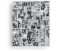 Alphabet Soup Canvas Print