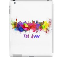 Tel Aviv skyline in watercolor iPad Case/Skin