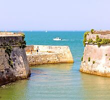 The Fort on the Ocean - Ile de Ré, France. by Tiffany Lenoir