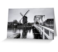 Windmill At Leiden  Greeting Card