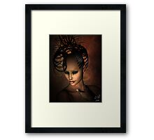 Beware the Ashtray Girl Framed Print