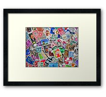 Stamps From the Past Framed Print