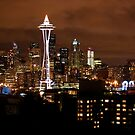 THE BEAUTIFUL SEATTLE SKYLIGHT AT NIGHT by MsLiz