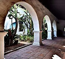 San Diego MIssion Arches by Marielle O'Brien