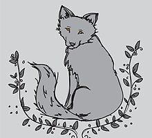 Gray Fox by Katelyn Ratajczak