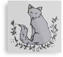 Gray Fox Metal Print
