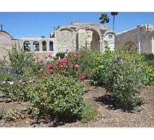 San Luis Rey Mission Gardens Photographic Print