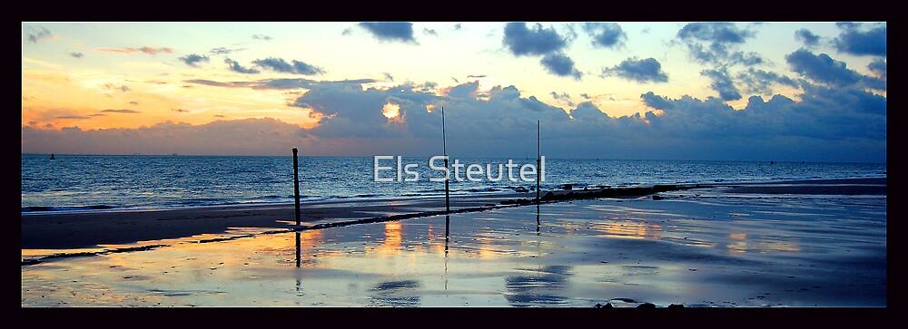 sunset beach 3 by Els Steutel