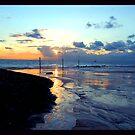 beach sunset by Els Steutel
