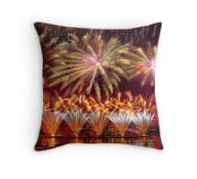 Fireworks over the Charles River.  Throw Pillow