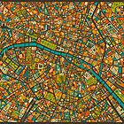 Paris Map by JazzberryBlue