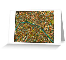 Paris Map Greeting Card