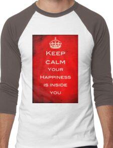Keep Calm - Finding Happiness Men's Baseball ¾ T-Shirt