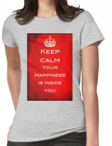 Keep Calm - Finding Happiness Womens Fitted T-Shirt