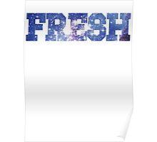 Magellan Blue [Stars Version] | Fresh Universe Logo Poster