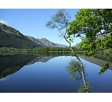 mirror calm scottish loch   Photographic Print