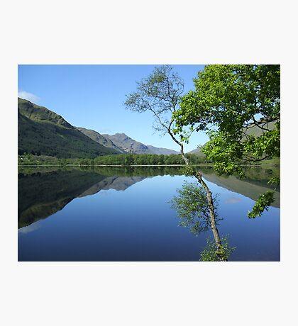 mirror calm scottish loch   Photographic Print