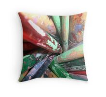 The Paintbrushes Throw Pillow