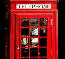 Red London Phone Box by Mark Tisdale