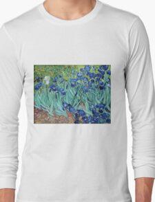 Famous art, Iris,  by Vincent van Gogh. Vintage impressionism floral oil painting. Long Sleeve T-Shirt