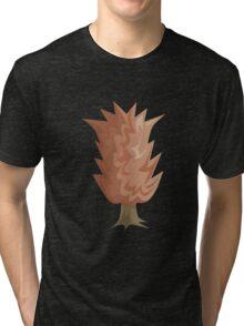 Glitch Ix Land  shrub orange 01 Tri-blend T-Shirt