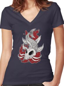 Blood in the Water Women's Fitted V-Neck T-Shirt