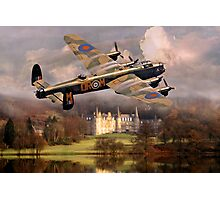 Lancaster over Scotland Photographic Print