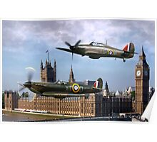 London Flyby Poster
