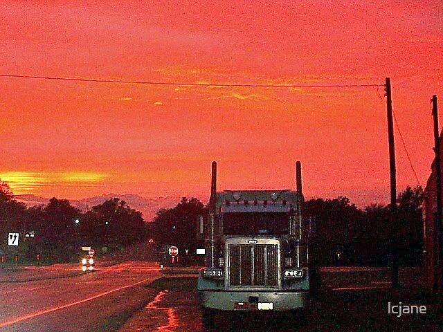 Big Rig @ Sunset by lcjane
