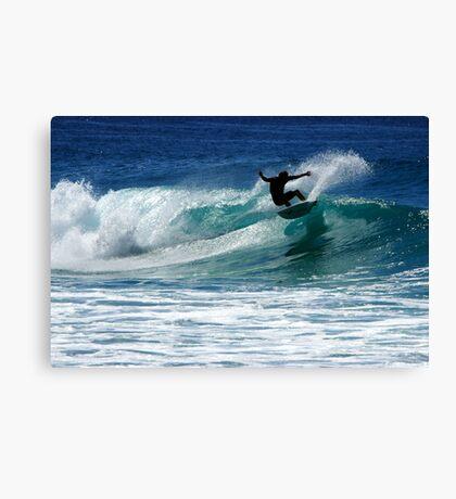 Surfing at Dalmeny Canvas Print
