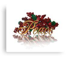 Peace for Christmas Canvas Print