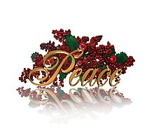Peace for Christmas Photographic Print