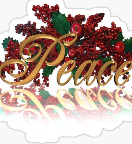 Peace for Christmas Sticker