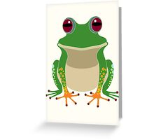 FINGERS & TOES FROG Greeting Card