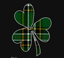 National Tartan of Ireland in Shamrock Unisex T-Shirt