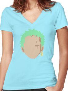 Zoro  Women's Fitted V-Neck T-Shirt