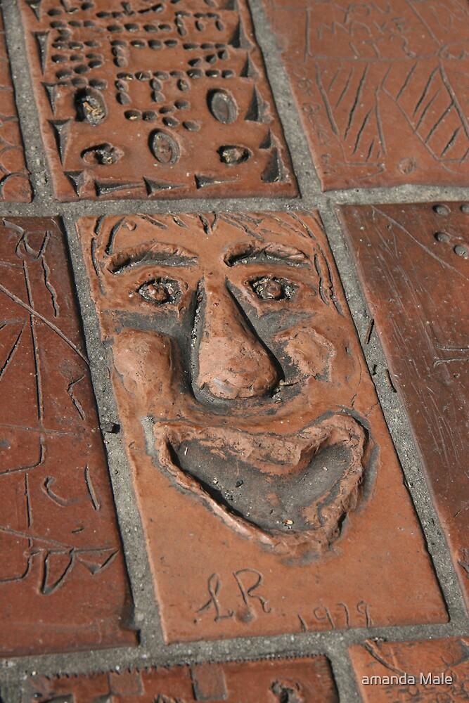 brick art by amanda Male