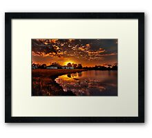 Reflecting sun Framed Print
