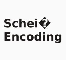 Schei? Encoding - Funny White Programmer T-Shirt by ramiro
