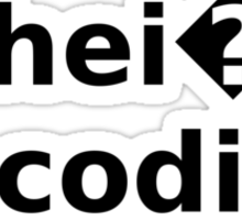 Schei? Encoding - Funny White Programmer T-Shirt Sticker