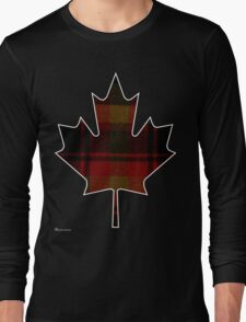 Canada's National Tartan in Maple Leaf  Long Sleeve T-Shirt