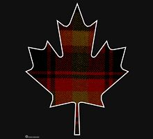 Canada's National Tartan in Maple Leaf  Unisex T-Shirt