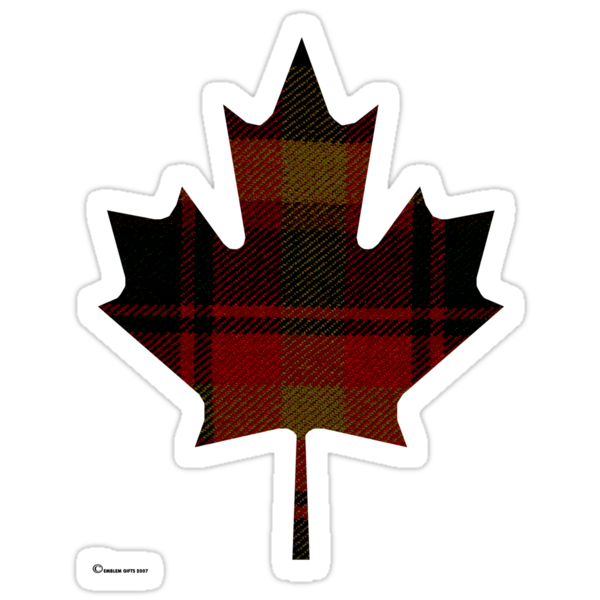 Canada's National Tartan in Maple Leaf  by Detnecs