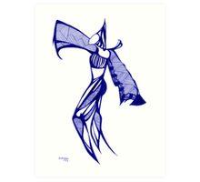 Blue Harem - Series 1 Art Print